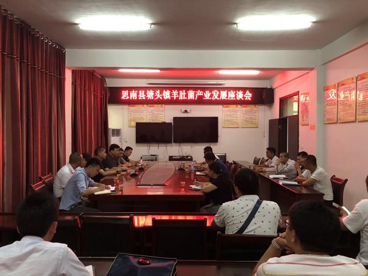 总经理谢兵参加思南县羊肚菌产业发展座谈会
