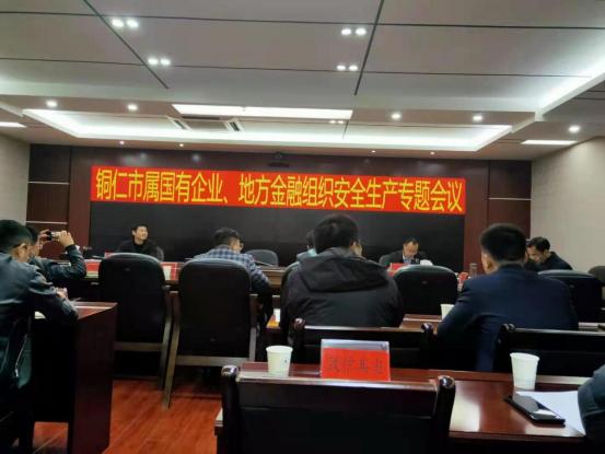 关于铜仁市属国有企业、地方金融组织安全生产专题会议的工作