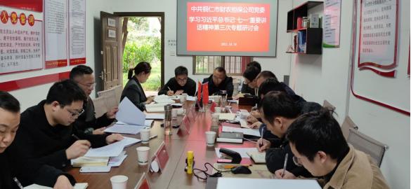 """铜仁市财农担保公司第三次专题学习习近平总书记""""七一""""重要"""
